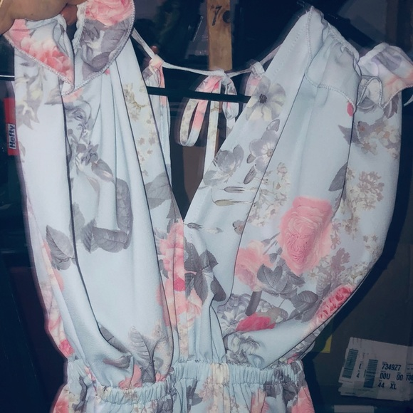 Unlisted Other - Women's light blue, pink and dark purple romper